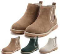 Women suede boots genuine leather women boots ankle platform women shoes autumn boots 2014