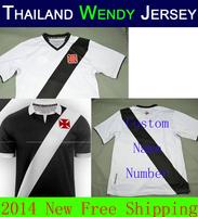 A+++ Thailand APRESENTA O NOVO MANTO DO VASCO Home White  Blouse 14 15 Thai 2015 da Gama Soccer Jersey Futbol Shirt No ads