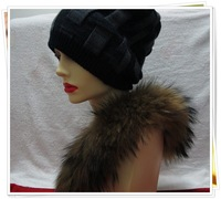 Winter Hats For Women And Men Casual Knitting Hat Dual-use Free Shipping