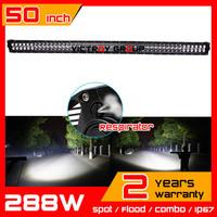 "50"" 288W LED Light Bar for 4WD Truck Tractor ATV 12v 24v Offroad Fog Lgiht  Worklight External Light Seckill 120w 240w"