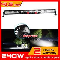 42inch 240w LED Light Bar 12V 24V IP67 Truck  Tractor ATV Fog Light Offroad LED Worklights External Light seckill 120w 180w
