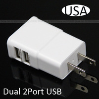 2A Dual 2 Ports USB USA/CA Wall Charger Adapter for iPhone 6 5s 5 for Sumsang All Brand Mobile Phone General High Quality 0709