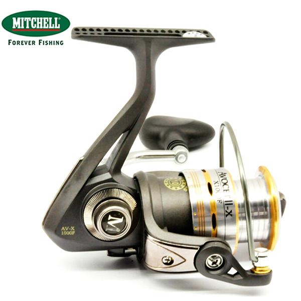 100% Original Mitchell Brand AV-X3000/4000/7000 Metal Spinning Fishing Reel 9+1BB Gear ratio 5.2:1 Anti-reverse Fishing Gear(China (Mainland))