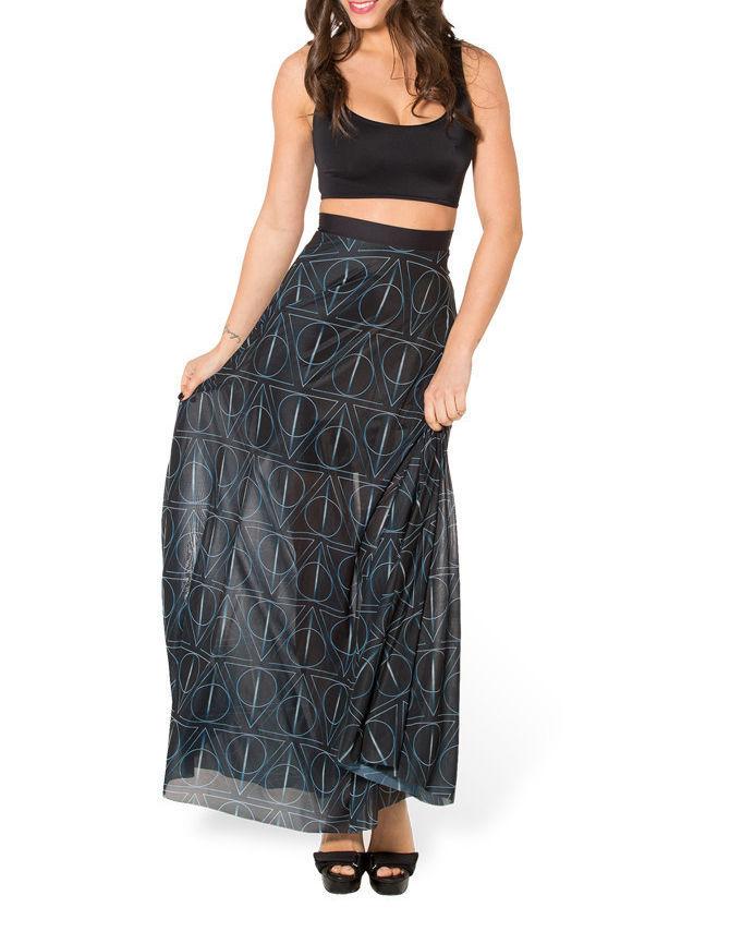 Sheoutfit Saias Femininas юбки женские гарри портер хогвартс дары выбоины принт юбка длинная юбка макси юбки женское