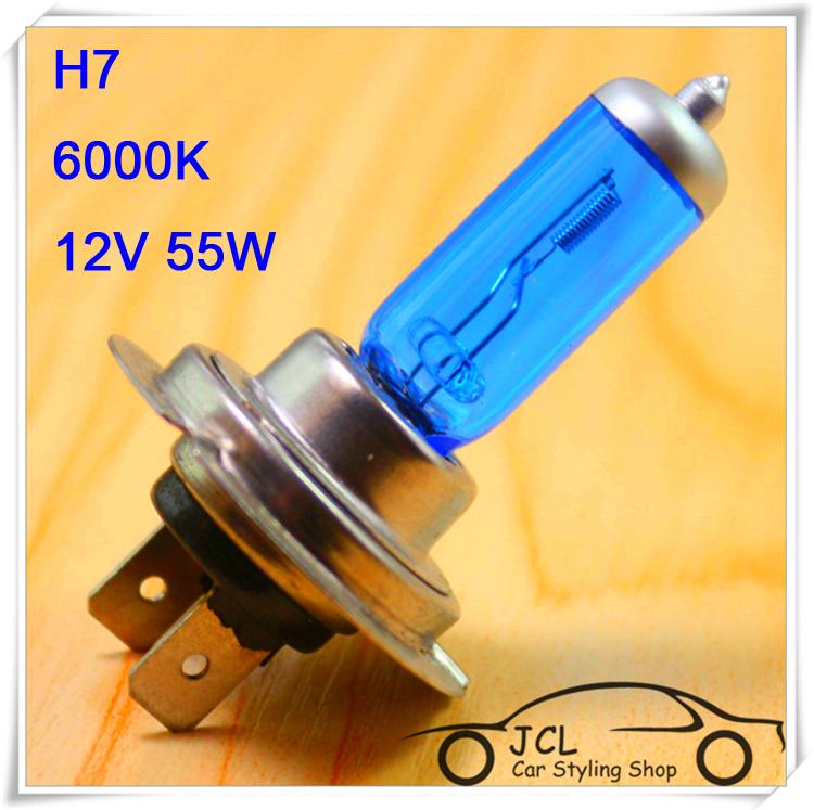 2pcs Xenon H7 Halogen Light Auto HeadLight Bulb Kit Super White 6000K 12V 55W Car light Car Styling For skoda octavia ford focus(China (Mainland))