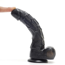 Realistic Dildo Waterproof Flexible penis with textured shaft and strong suction cup Sex toy for women(China (Mainland))