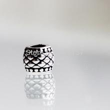10pcs 9mm Antique silver carved drum beads DIY zinc alloy big hole drum beads fit Pandora
