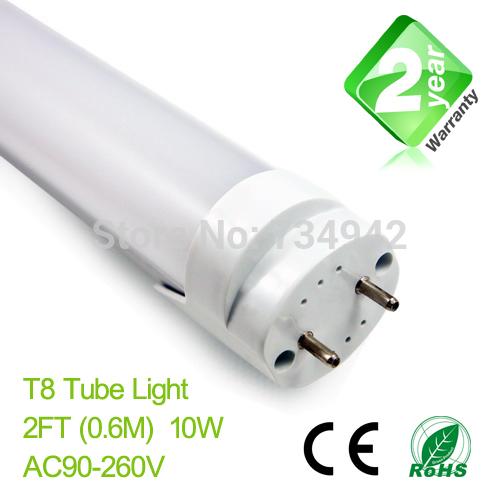 2ft T8 LED Fluorescent Tube Light 600mm 10W 900LM CE & RoSH 2 Year Warranty SMD2835 Epistar LED(China (Mainland))
