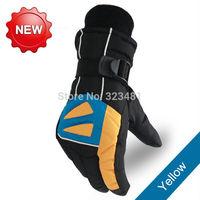 Free size Winter Warm gloves Unisex for men women Thermal windstopper waterproof Mountain Road Bike Skiing gloves 6 Colors