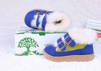 2014 Winter Snow Boots For Children Shoes boys girls winter boots buckle strap 5 colors tenis infantil
