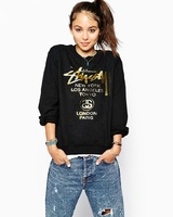 New 2014 3d Sweatshirt Casual Women Hoody Letter Printed Cotton T Shirt Hoodies Sport Suit Women Clothing Pullover Plus Size