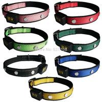 The latest style LED dog collars flashing pet, LED nylon dog collars leads large dog collar nylon adjustable dog collar