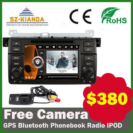 Free Special car camera Car DVD GPS Navi head unit for BMW E46 M3 with GPS bluetooth Radio IPOD USB SD Steering wheel control(China (Mainland))