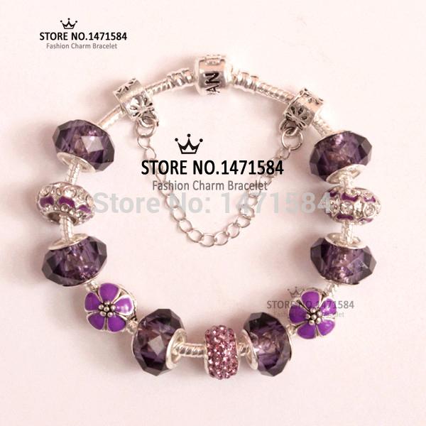 Браслет-цепь Carina BR-Purple-ALL6