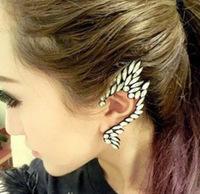 New Popular White Rhinestone Elfin Type Women Ear Cuff Earrings Jackets and Cuffs Free Shipping A05009