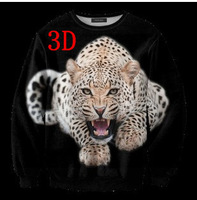 New 2014 Autumn Winter Sweatshirt Women,warm Fashion Women hoodies, hoody with Tiger Printed Long Sleeve Loose Pullovers W00433