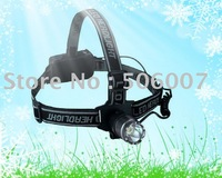 High Power Led Headlight,Led Headlamp,Front Light With 1W,Brightness Adjustable+Free Shipping