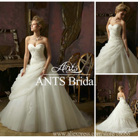 2013 Style New Organza With Lace Sweetheart Wedding Dresses Best ML511