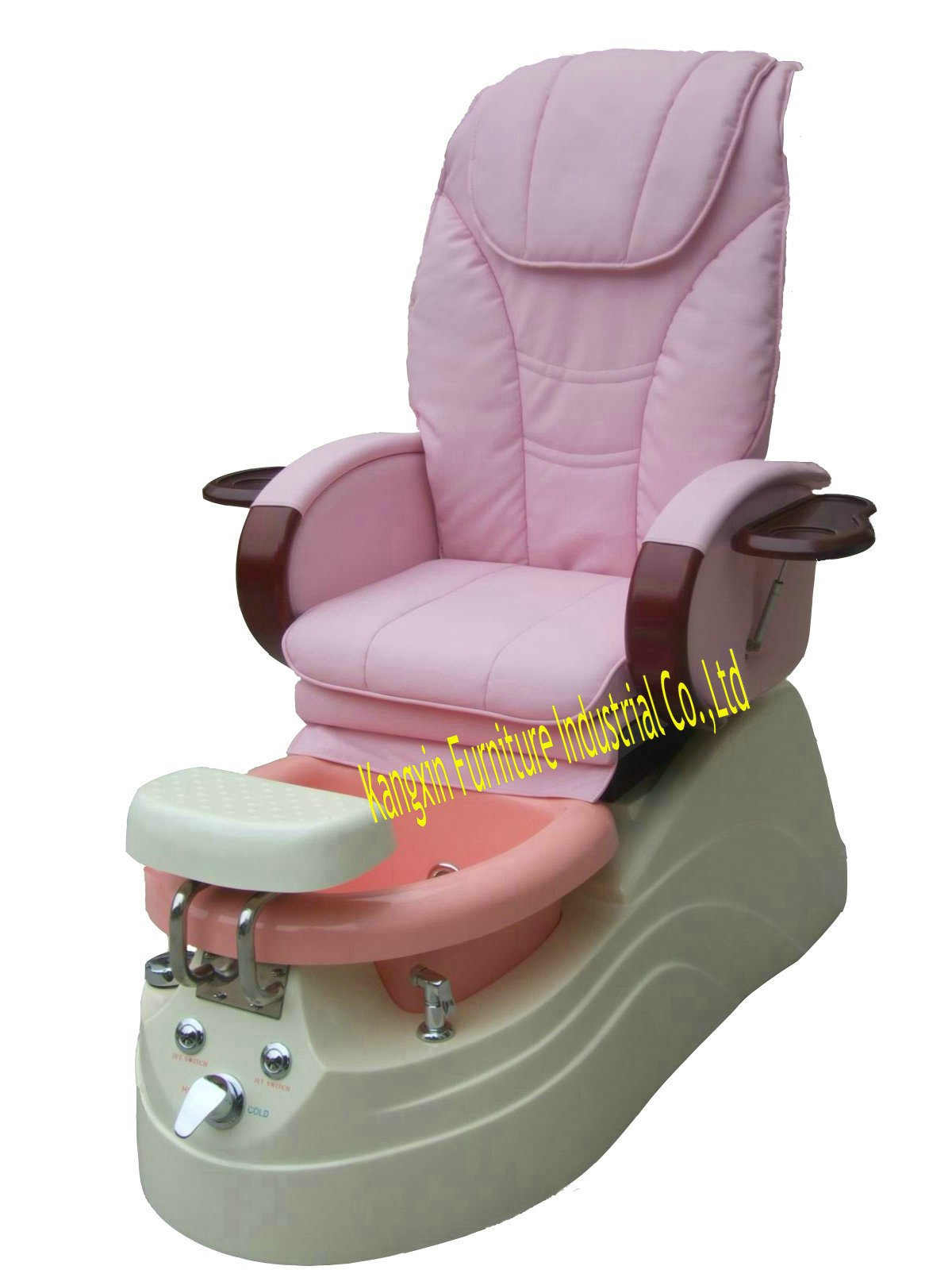 Luxury full-body relaxing Salon spa massage pedicure chair for any belle, with manicure tray,7color LED lamp,soft whirlpool(China (Mainland))