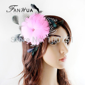 New design fashion jewelry Feather flower hair clip