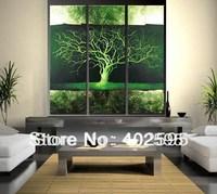 Handmade Oil Painting Modern Art on Canvas Y2 tree huge