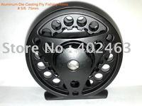 Top grade Aluminum Die Casting Fly Fishing Reels # 5/6  75mm  2Precision bearings+One-way bearing China Post Air Mail Ups Saver
