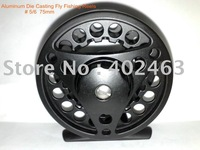 Top grade Aluminum Die Casting Fly Fishing Reels # 5/6  75mm  2Precision bearings+One-way bearing China Post Air Mail Ups Saver