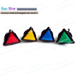 30 Pcs of triangular shape Illuminated push button-game accessory for amusement machine/arcade game machine/game machine(China (Mainland))