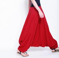 New 2015 Casual harem plants,loose yoga sports trousers,wide leg pants,pantskirt,Plus size woman Big crotch pants,bloomers