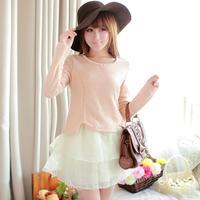 2014 dress small fresh sweet gentlewomen elegant long-sleeve dress