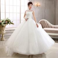 Luxury Elegant Slim Floor Length Plus Size Organza Lace Up Bridal Ball Gown Wedding Dress HS567