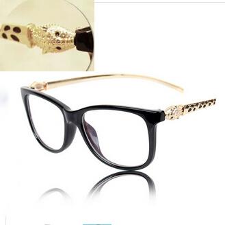 hot sale brand Eye glasses Women 2015 fashion brand metal Leopard head legs frames glasses oculos de sol feminino(China (Mainland))