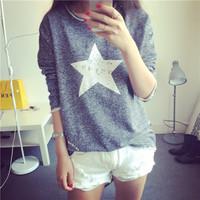New Fashion Autumn/Winter Female Outerwear Long-sleeve Print Loose Sweatshirt 4 Colors Women Clothing Free Shipping