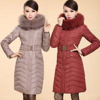 Down Coat Women 2014 Winter Jacket Women Winter Coat Women Fox Fur Luxury Down Jacket Women Frozen Down & Parkas Outerwear 1319