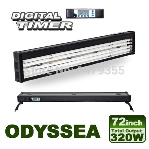 "Odyssea Aquarium light fixture/tank plant light/ T5 light /72"" T5 Quad High Output Light Fixture with Timer(China (Mainland))"