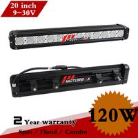 20 Inch 120W CREE LED Work Light Bar IP67 Fog light For OffRoad Tractor ATV 4x4 SUV Drving Lights External Light Seckill 100W