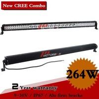 52 Inch 264W CREE LEd Work Light Bar IP67 12V 24V For Off Road Boat SUV ATV Truck Fog Light External Light Seckill 164W 224W