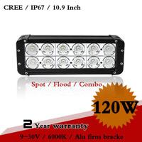 10.9 Inch 120W CREE LED Work Light Bar IP67 For Off Road Boat SUV LED Fog Light Flood Spot Driving Light BarSave on  200W 240W