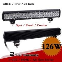 20 Inch 126w CREE LED Work Light Bar 12V 24V IP67 For Truck ATV Fog Light Offroad CREE LED Worklight Seckill 18W 36W 72W