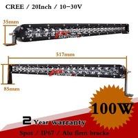 20inch 100W CREE LED Work Light Bar 12V 24V Spot For Off Road ATV Truck Adjustable Bracket Fog Light External Light Saveon  250W