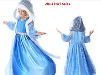 Frozen Dress Elsa & Anna For Girl 2014 Princess Dresses Children clothing 4 -12T