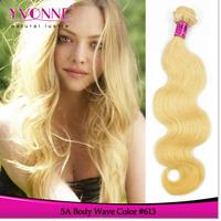 3Pcs/lot Grade 5A Peruvian Body Wave Blonde Hair,Color 613 Hair Weave,16-28 Inches Aliexpress Yvonne Human Hair