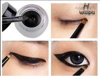 New Cosmetic Waterproof Eye Liner pencil make up black liquid Eyeliner Shadow Gel Makeup + Brush Black