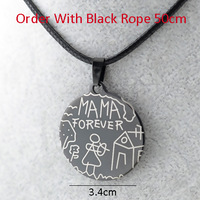 6pcs =$9.96 Mom Gift MAMA FOREVER Pendants & Necklaces Rope Chain Women Girl,Stainless Steel Jewelry Love,Mother Gift,Wholesale