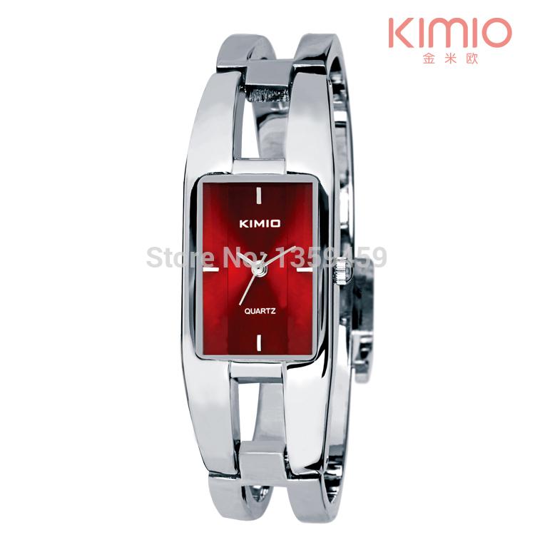 KIMIO Luxury Fashion Designer Geneva Quartz Watch Women Stainless Steel Bracelet Watches Brand Wristwatches Relogio Feminino(China (Mainland))