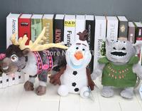 25-33cm Olaf the Snowman SVEN Reindeer Caribo Kristoff Friend Rock People Trolls plush doll toys