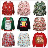 Christmas Cute Print Pullover Sweaters Jumper Outwear Fashion Women's Sweatshirts LW096-119