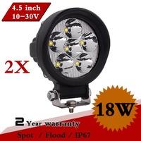 2PCS 18W LED Work Light 12V 24V IP67 For SUV Boat ATV Led Work Lights Lamp Tractor Offroad Fog External Light Save on 27w 36w