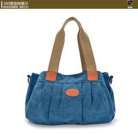 Korean version literary big bag diagonal retro casual canvas shoulder bag trend handbags national wind women messenger bags