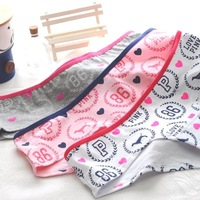 Love Pink Female Underwear Vs Women Cotton Panties Wheat LOGO Print Fashion Ladies Briefs